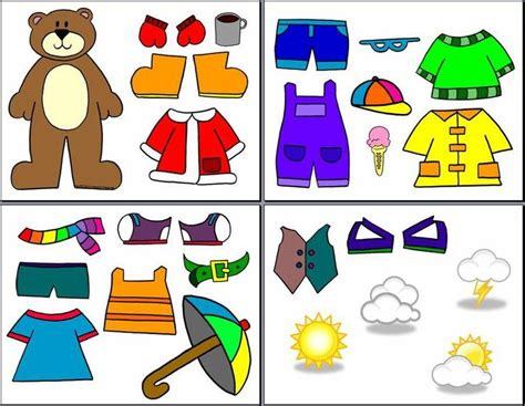 Printable Weather Clothes