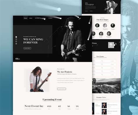Band Templates by Band Website Psd Template Psd