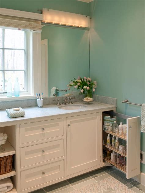 Pull Out Bathroom Storage Small Bathroom With Innovative Storage Hgtv