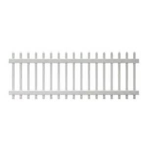 home depot fence pickets veranda chelsea 3 ft h x 8 ft w spaced picket vinyl