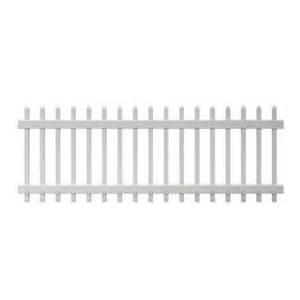 home depot white fence veranda chelsea 3 ft h x 8 ft w spaced picket vinyl