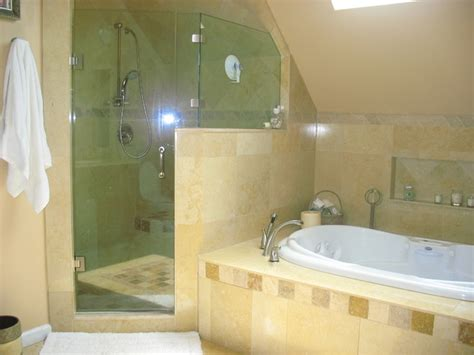 bathroom with jacuzzi and shower shower jacuzzi tub mediterranean bathroom new york