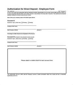 Direct Deposit Form Template by The Gallery For Gt Direct Deposit Form Template