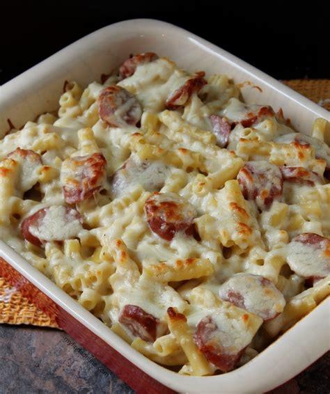 turkey sausage alfredo pasta recipe smoked sausage pasta casserole