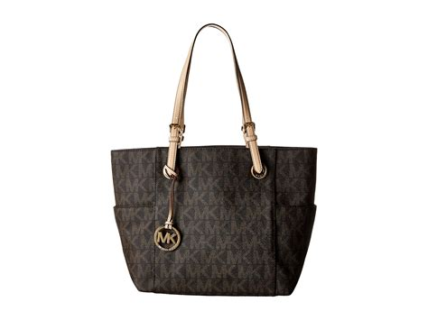 Tote In Signature 54690 Brown michael michael kors mk logo east west signature tote in brown lyst