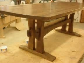 Building A Trestle Table » Home Design 2017