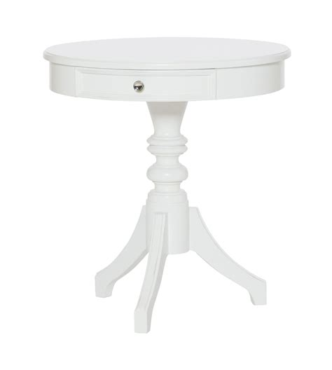 round white accent table lynn haven dover white round accent table 416 916 hammary