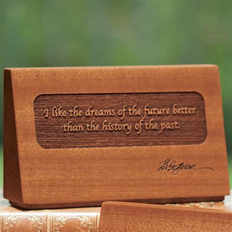 dreams of the future quote desk plaque