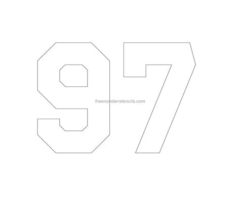 printable jersey number stencils free jersey printable 97 number stencil