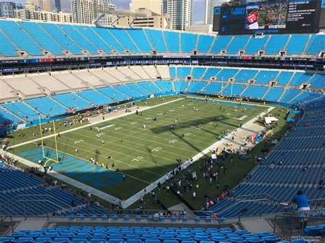 which of these happens in section xix bank of america stadium section 550 rateyourseats com