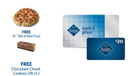 Does Sams Club Accept Walmart Gift Cards - sam s club plus membership free food 20 gift card only 45 220 value