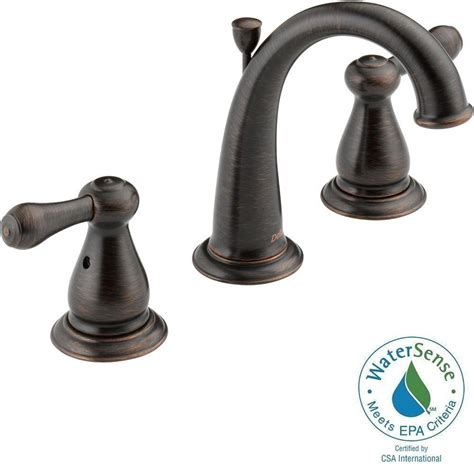 bronze faucets bathroom delta leland 8 in widespread 2 handle high arc bathroom faucet in venetian bronze 3575 rbmpu