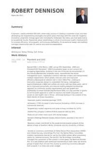president and ceo resume samples visualcv resume samples
