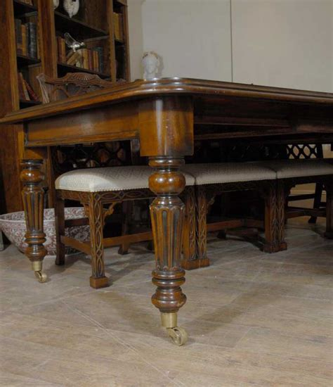ft english victorian mahogany dining table