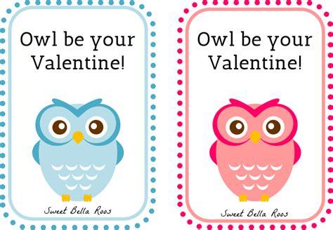 printable owl valentines day cards printable valentines day cards
