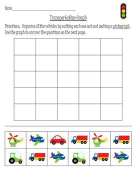 transportation pattern worksheet transportation patterns and graphing math activity set by