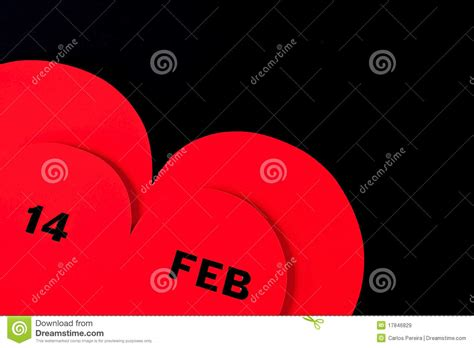 black valentines day valentines day herat on black royalty free stock images