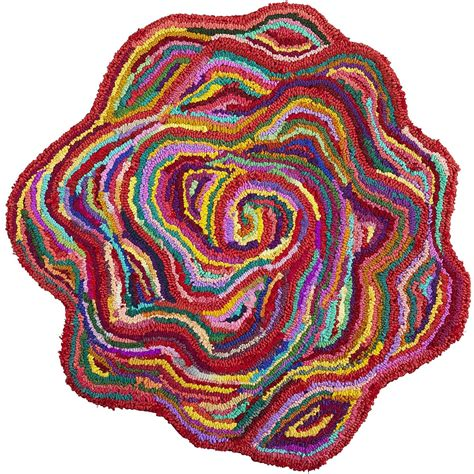 Chindi Flower Shaped Rug Decor By Color Flower Rug