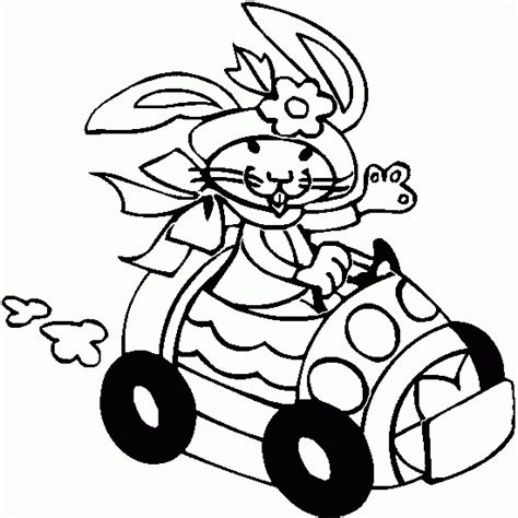 cars easter coloring pages easter coloring easter rabbit drive car coloring