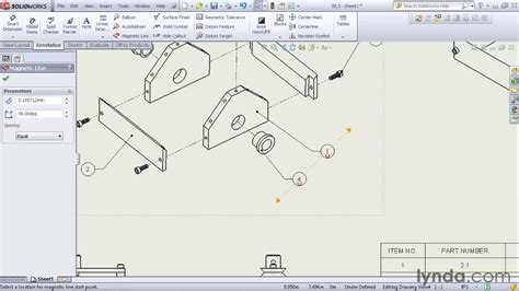 solidworks tutorial assembly drawing including part balloons in an assembly drawing from the