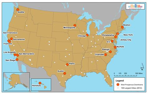 us big cities map the most prosperous downtowns of the 21st century part 1