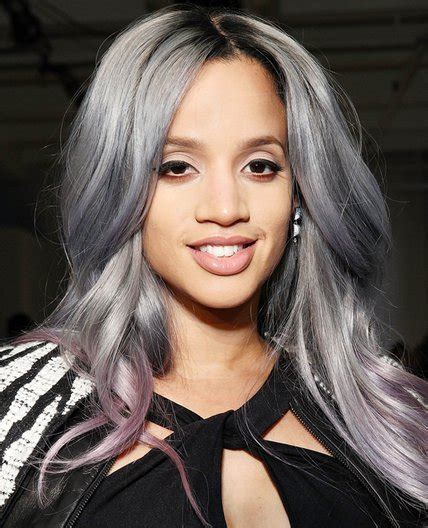salt and pepper hair with lilac tips silver hair 30 gorgeous silver hairstyle ideas