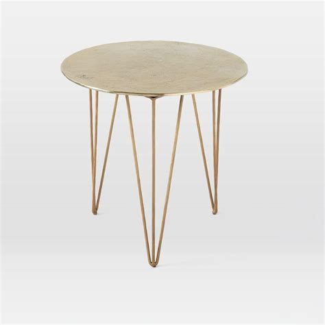 brass hairpin table legs brass hairpin side table