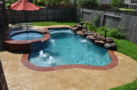 pools small backyards inground hot tub ideas home interior eksterior
