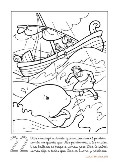 jonas y el gran pez dibujos para colorear libreta historias biblicas