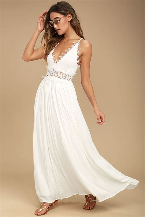 lovely white lovely white maxi dress lace maxi dress plunge neck
