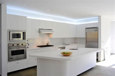minimalist kitchen cabinet designs home design alluring white led lights on ceiling above white counter