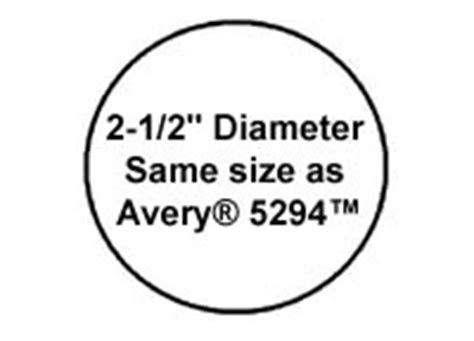 1 200 Round Labels 2 1 2 Inch Diameter White Matte Laser And Inkjet Printable Stickers Use Avery 2 Inch Circle Label Template