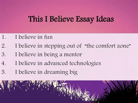 This I Believe 2 Essays by I Believe Essay Themes This I Believe Essay Topics This I Believe Cate2014 Presentation