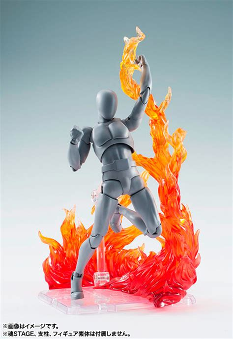figure effects bandai flames on with fiery figure effect stands