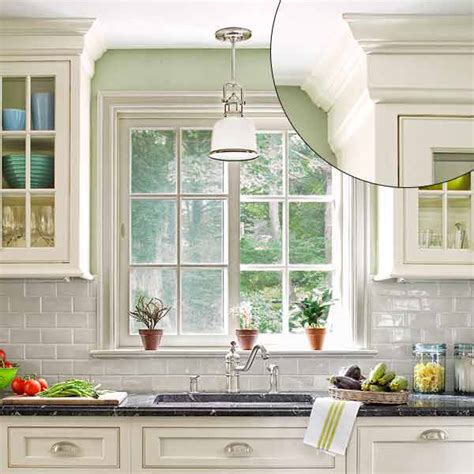 Molding designs classical revival style trim on kitchen cabinet tops