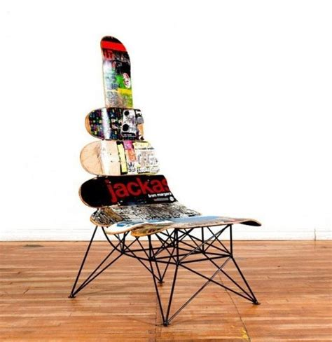 skateboard chairs skateboard chair oh yaah productos novedosos pinterest