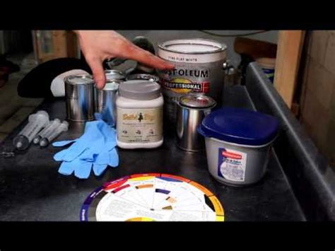 mixing rustoleum based enamel for painting decoys