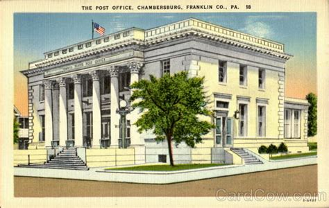 Post Office Chambersburg Pa by The Post Office Chambersburg Pa