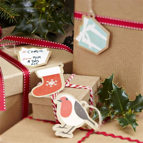 vintage style christmas present tags labels by ginger