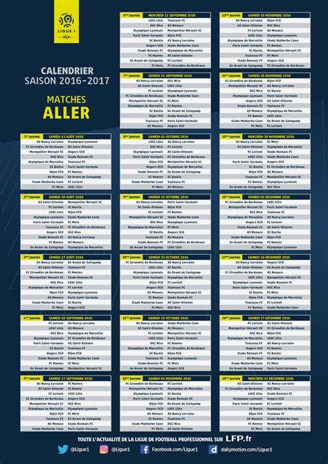 Calendrier Ligue 1 2016 Bastia Calender Ligue 1 Pour La Saison 2016 2017 Koora Hd L L