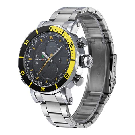 Jam Tangan Pria Digitec Stainless Steel Dual Time Original Water Proof 1 weide dual time zone stainless quartz led sports 30m