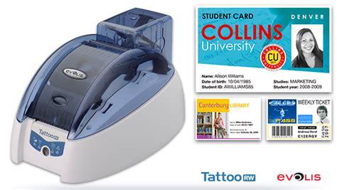evolis tattoo printer card type basic evolis tattoo rw card printer plastic resources