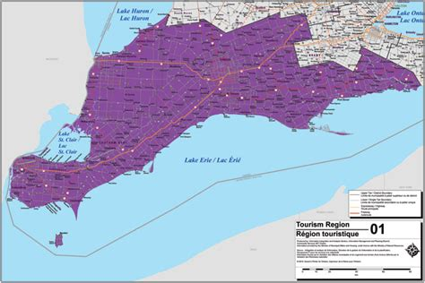 south west canada map southwest ontario tourism region