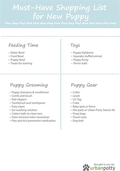 new puppy list new puppy checklist printable puppy a printable pdf of the puppy shopping