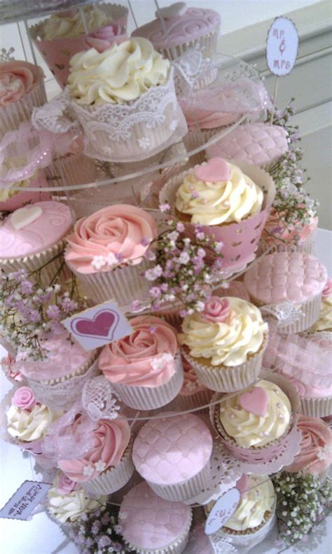 vintage shabby chic wedding cupcake tower a vintage