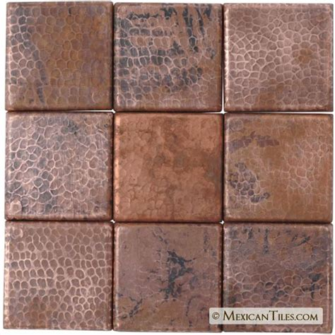 individually hand hammered copper tiles from premier