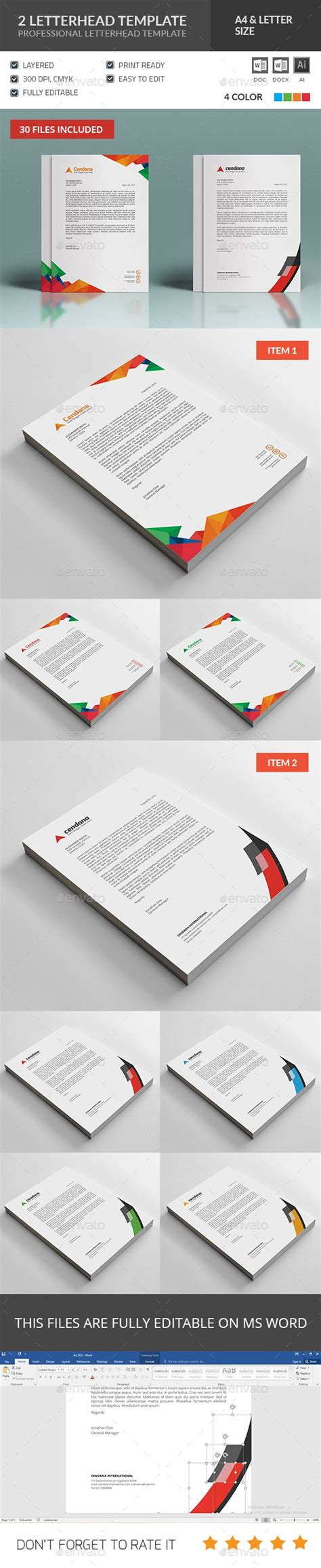 editable letterhead template business theme 2 25 best ideas about professional letterhead on