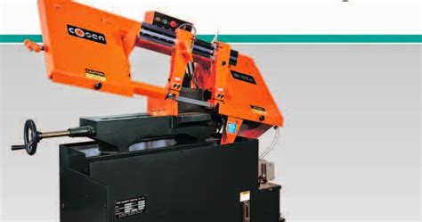 Gergaji Potong Besi jual mesin fabrikasi plat logam mesin gergaji pita untuk besi baja band saw merk cosen type