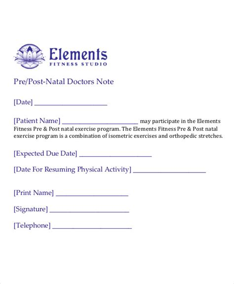 Doctor Note Template For School