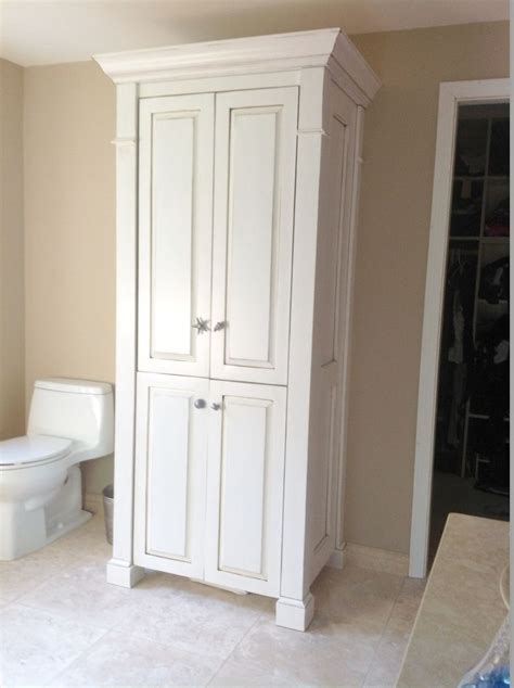 Armoire Cupboards Custom Made Four Column Large Linen Closet By Custom Made